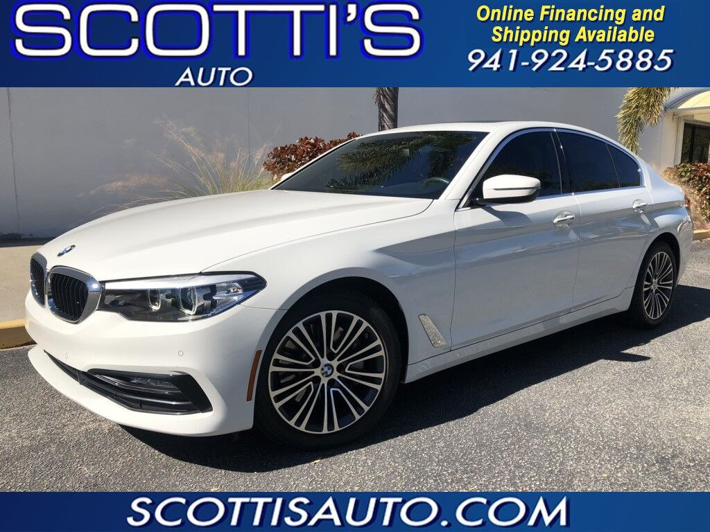 2017 BMW 5 Series 530i~ONLY 35K MILES~ ALPINE WHITE~ CLEAN CARFAX~LOW MILES~ NAVIGATION~ CAMERA~ CLEAN AND LOADED~ ONLINE FINANCE AND SHIPPING AVAILABLE! Sarasota FL