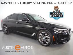 2017_BMW_5 Series 540i_*SPORT, HEADS-UP DISPLAY, NAVIGATION, LUXURY SEATING PKG, NAPPA LEATHER, BACKUP-CAMERA, LED HEADLIGHTS, HEATED SEATS, MOONROOF, APPLE CARPLAY_ Round Rock TX