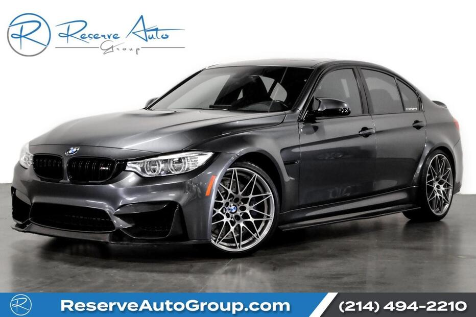 2017_BMW_M3_Competition Pkg Moonroof CarbonFiber BodyKit_ The Colony TX