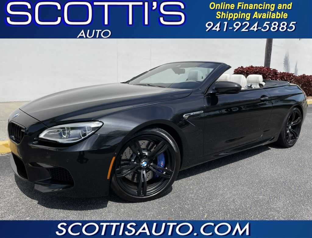 2017 BMW M6 CONVERTIBLE~ ONLY 24K MILES~ 1-OWNER~ TWIN TURBO 8 CYL~ BLACK/ BEIGE INTERIOR~ AWESOME CAR! WE OFFER ONLINE FINANCE AND SHIPPING! APPLY TODAY! Sarasota FL