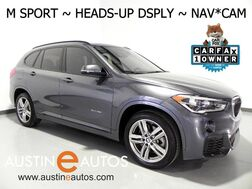 2017_BMW_X1 sDrive28i_*M SPORT, HEADS-UP DISPLAY, NAVIGATION, DRIVING ASSISTANT, BACKUP-CAMERA, HEATED SEATS/STEERING WHEEL, PANORAMA MOONROOF, LEATHER, BLUETOOTH_ Round Rock TX