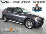 2017 BMW X1 sDrive28i *XLINE, HEADS-UP DISPLAY, NAVIGATION, BACKUP-CAMERA, PANORAMA MOONROOF, HARMAN/KARDON, LEATHER, COMFORT ACCESS, BLUETOOTH AUDIO