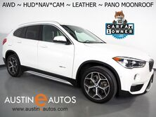 BMW X1 xDrive28i AWD *LUXURY PKG, HEADS-UP DISPLAY, NAVIGATION, DRIVING ASSISTANT, LANE DEPARTURE ALERT, BACKUP-CAMERA, PANORAMA MOONROOF, DAKOTA LEATHER, HEATED SEATS/STEERING WHEEL, BLUETOOTH 2017