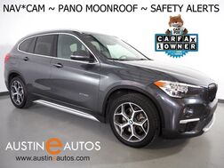 2017_BMW_X1 xDrive28i AWD_*XLINE, NAVIGATION, BACKUP-CAMERA, DRIVING ASSISTANT, LANE DEPARTURE ALERT, PANORAMA MOONROOF, HEATED SEATS/STEERING WHEEL, POWER TAILGATE, BLUETOOTH_ Round Rock TX