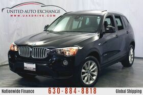 2017_BMW_X3_2.0L Engine AWD xDrive28i w/ Navigation, Panoramic Sunroof, Hands-Free Bluetooth & USB Audio Connection, Front and Rear Parking Aid with Rear View Camera_ Addison IL