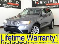 BMW X3 SDRIVE28i NAVIGATION PANORAMIC ROOF LEATHER SEATS APPLE CARPLAY ANDROID AUT 2017