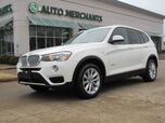 2017 BMW X3 sDrive28i 2.0 4CYL TURBO, AUTOMATIC, LEATHERETTE, PANORAMIC, POWER LIFTGATE, SUNROOF, POWER SEATS