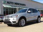 2017 BMW X3 sDrive28i *DRIVING ASSIST PKG, LIGHTING PKG, PREMIUM PKG* LEATHER, PANORAMIC SUNROOF, UNDER WARRANTY