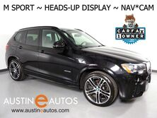 BMW X3 sDrive28i *M SPORT, HEADS-UP DISPLAY, NAVIGATION, BACKUP-CAM, PANORAMA MOONROOF, HARMAN/KARDON, LEATHER, HEATED SEATS, BLUETOOTH PHONE & AUDIO 2017