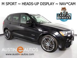 2017_BMW_X3 sDrive28i_*M SPORT, HEADS-UP DISPLAY, NAVIGATION, BACKUP-CAM, PANORAMA MOONROOF, HARMAN/KARDON, LEATHER, HEATED SEATS, BLUETOOTH PHONE & AUDIO_ Round Rock TX