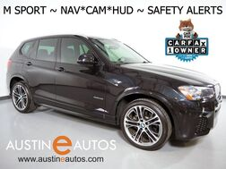 2017_BMW_X3 sDrive28i_*M SPORT, HEADS-UP DISPLAY, NAVIGATION, BLIND SPOT ALERT, DRIVING ASSISTANT, TOP/SIDE/REAR CAMERAS, PANORAMA MOONROOF, HARMAN/KARDON, APPLE CARPLAY_ Round Rock TX