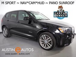 2017_BMW_X3 sDrive28i_M SPORT PKG, HEADS-UP DISPLAY, NAVIGATION, BACKUP-CAMERA, PANORAMA MOONROOF, NEVADA LEATHER, HEATED SEATS, BLUETOOTH PHONE & AUDIO_ Round Rock TX