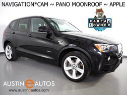2017_BMW_X3 sDrive28i_*NAVIGATION, BACKUP-CAMERA, PANORAMA MOONROOF, POWER LIFTGATE, HEATED SEATS, 19 INCH WHEELS, BLUETOOTH, APPLE CARPLAY_ Round Rock TX