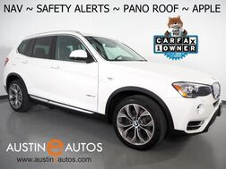2017_BMW_X3 sDrive28i_*XLINE, NAVIGATION, BLIND SPOT ALERT, DRIVING ASSISTANT, TOP/SIDE/REAR CAMERAS, PANORAMA MOONROOF, NEVADA LEATHER, HARMAN/KARDON, APPLE CARPLAY_ Round Rock TX