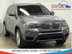 2017_BMW_X3 xDrive28i_AWD DRIVER ASSIST PKG NAVIGATION PANORAMA LEATHER REAR CAMERA KEYLESS START_ Carrollton TX