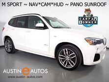 BMW X3 xDrive28i AWD *M SPORT PKG, HEADS-UP DISPLAY, NAVIGATION, BACKUP-CAMERA, PANORAMA MOONROOF, NEVADA LEATHER, HEATED SEATS, COMFORT ACCESS, POWER TAILGATE, BLUETOOTH 2017