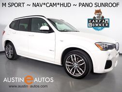 2017_BMW_X3 xDrive28i AWD_*M SPORT PKG, HEADS-UP DISPLAY, NAVIGATION, BACKUP-CAMERA, PANORAMA MOONROOF, NEVADA LEATHER, HEATED SEATS, COMFORT ACCESS, POWER TAILGATE, BLUETOOTH_ Round Rock TX