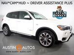 2017 BMW X3 xDrive28i AWD *XLINE, HEADS-UP DISPLAY, NAVIGATION, BLIND SPOT ALERT, DRIVING ASSISTANT, TOP/SIDE/REAR CAMERAS, LEATHER, HEATED SEATS, PANORAMA MOONROOF, HARMAN/KARDON