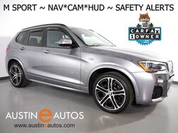 2017_BMW_X3 xDrive35i AWD_*M SPORT, HEADS-UP DISPLAY, NAVIGATION, BLIND SPOT ALERT, DRIVING ASSISTANT, TOP/SIDE/REAR CAMERAS, PANORAMA MOONROOF, HARMAN/KARDON, LEATHER, APPLE CARPLAY_ Round Rock TX