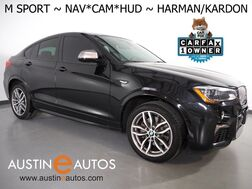 2017_BMW_X4 M40i xDrive AWD_*M SPORT, HEADS-UP DISPLAY, NAVIGATION, SIDE/TOP/REAR CAMERAS, MOONROOF, NEVADA LEATHER, HEATED SEATS/STEERING WHEEL, HARMAN/KARDON_ Round Rock TX
