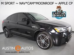 2017_BMW_X4 xDrive28i AWD_*M SPORT, NAVIGATION, TOP/SIDE/REAR CAMERAS, MOONROOF, LEATHER, HEATED SEATS/STEERING WHEEL, COMFORT ACCESS, BLUETOOTH, APPLE CARPLAY_ Round Rock TX