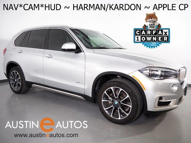 2017 BMW X5 sDrive35i *XLINE, HEADS-UP DISPLAY, NAVIGATION, BACKUP-CAMERA, PANORAMA MOONROOF, LEATHER, HEATED SEATS, HARMAN/KARDON, LIGHTING PKG, APPLE CARPLAY Round Rock TX
