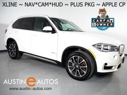 2017_BMW_X5 sDrive35i_*XLINE, HEADS-UP DISPLAY, NAVIGATION, BLIND SPOT ALERT, DRIVING ASSISTANT, REAR/SIDE/TOP CAMERAS, PANORAMA MOONROOF, LEATHER, APPLE CARPLAY_ Round Rock TX