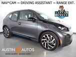2017 BMW i3 Deka World w/Range Extender *NAVIGATION, DRIVING ASSISTANT, ADAPTIVE CRUISE, BACKUP-CAMERA, COMFORT ACCESS, HEATED SEATS, BLUETOOTH PHONE & AUDIO