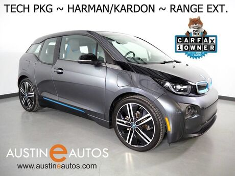 2017 BMW i3 Deka World w/Range Extender *NAVIGATION, DRIVING ASSISTANT, ADAPTIVE CRUISE, BACKUP-CAMERA, COMFORT ACCESS, HEATED SEATS, HARMAN/KARDON, 20 INCH WHEELS, BLUETOOTH Round Rock TX