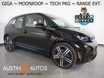 2017 BMW i3 Giga World w/Range Extender *MOONROOF, NAVIGATION, DRIVING ASSISTANT, ADAPTIVE CRUISE, LEATHER, BACKUP-CAMERA, HEATED SEATS, 20 INCH WHEELS, BLUETOOTH PHONE & AUDIO
