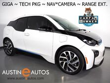 BMW i3 Giga World w/Range Extender *NAVIGATION, DRIVING ASSISTANT, ADAPTIVE CRUISE, BACKUP-CAMERA, LEATHER, HEATED SEATS, COMFORT ACCESS, BLUETOOTH PHONE & AUDIO 2017