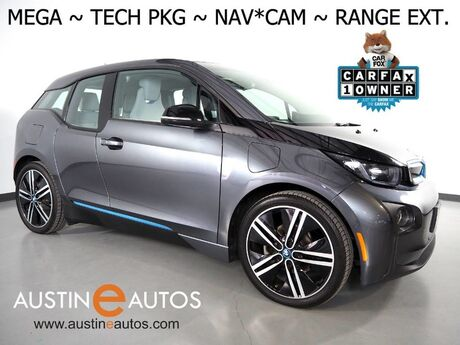 2017 BMW i3 Mega World w/Range Extender *NAVIGATION, DRIVING ASSISTANT, ADAPTIVE CRUISE, BACKUP-CAMERA, COMFORT ACCESS, HEATED SEATS, 20 INCH WHEELS, BLUETOOTH PHONE & AUDIO Round Rock TX