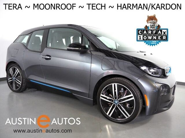 2017 BMW i3 Tera World w/Range Extender *MOONROOF, NAVIGATION, DRIVING ASSISTANT, ADAPTIVE CRUISE, COLLISION ALERT, CAMERA, LEATHER, HARMAN/KARDON, HEATED SEATS, 20 INCH WHEELS Round Rock TX
