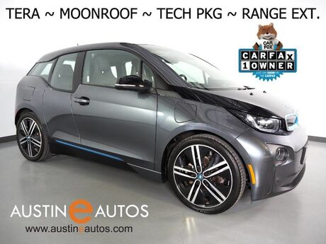2017 BMW i3 Tera World w/Range Extender *MOONROOF, NAVIGATION, DRIVING ASSISTANT, ADAPTIVE CRUISE, LEATHER, BACKUP-CAMERA, COMFORT ACCESS, HEATED SEATS, HARMAN/KARDON, 20 INCH WHEELS, BLUETOOTH Round Rock TX