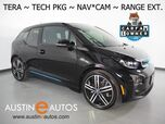 2017 BMW i3 Tera World w/Range Extender *NAVIGATION, DRIVING ASSISTANT, ADAPTIVE CRUISE, COLLISION ALERT w/BRAKING, LEATHER, BACKUP-CAMERA, COMFORT ACCESS, HEATED SEATS, 20 INCH WHEELS, BLUETOOTH PHONE & AUDIO