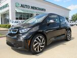 2017 BMW i3 w/Range Extender, BACKUP CAM, BLUETOOTH, AUTOMATIC PARK, NAVI, KEYLESS START,