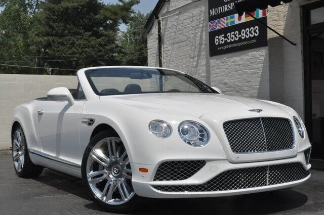 2017 Bentley Continental GT V8 Convertible/Mulliner Driving Specification w/ 21'' Wheels/Diamond Quilted Leather/Heated & Ventilated Massaging Seats/Piano Black Int. Trim/Neck Warmer/Bright Chromed Lower Grill/Over $241k MSRP Nashville TN
