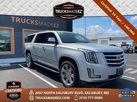 2017_Cadillac_Escalade ESV_Luxury | 4X4 |  Pohanka Certified 10 Year / 100,000  **_ Salisbury MD