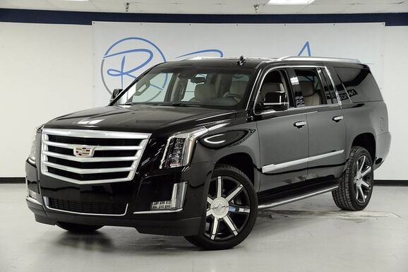 2017_Cadillac_Escalade ESV_Luxury Captain Seating Carfax Certified One Owner GM Executive_ The Colony TX