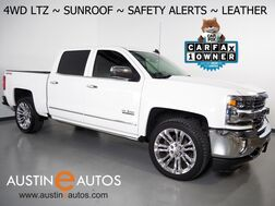 2017_Chevrolet_Silverado 1500 4WD Crew Cab LTZ_*5.3L V8, TEXAS EDITION, LTZ PLUS PKG, SAFETY ALERTS, MOONROOF, LEATHER, CLIMATE SEATS, 20 INCH WHEELS, BOSE AUDIO, POWER RUNNING BOARDS_ Round Rock TX