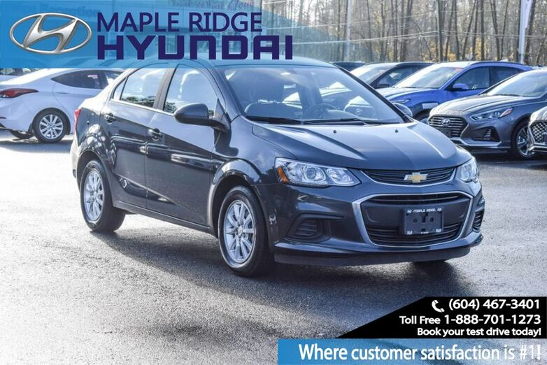 2017 Chevrolet Sonic LT, Auto, Air Conditioning, Bluetooth, Low KMs Maple Ridge BC
