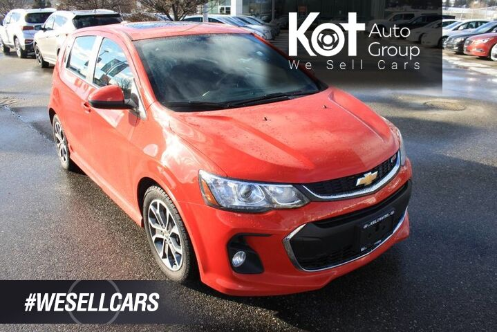2017 Chevrolet Sonic LT RS No accident Bluetooth, Power options,Heated seats. Kelowna BC
