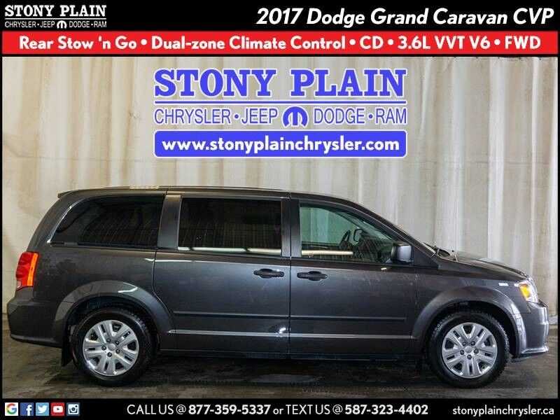 2017 Dodge Grand Caravan Canada Value Package Stony Plain AB