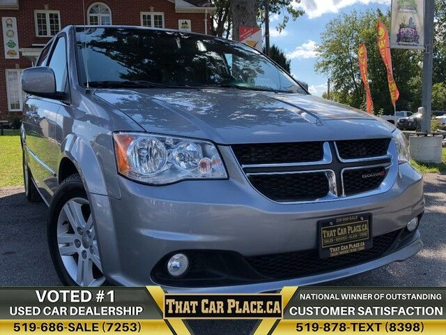 2017 Dodge Grand Caravan Crew Plus-$85Wk-7Pass-BackupCam-HeatdLeathrSts-LOWkm London ON
