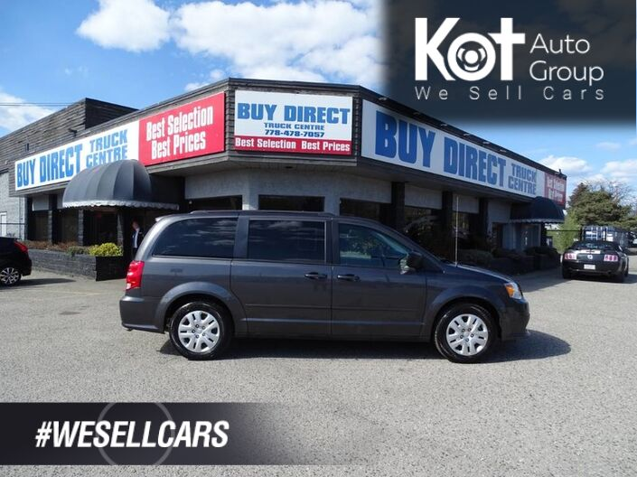 2017 Dodge Grand Caravan SE, No Accidents! Eco Mode, Rear Climate Controls, Stow N' Go, Cruise Control Kelowna BC
