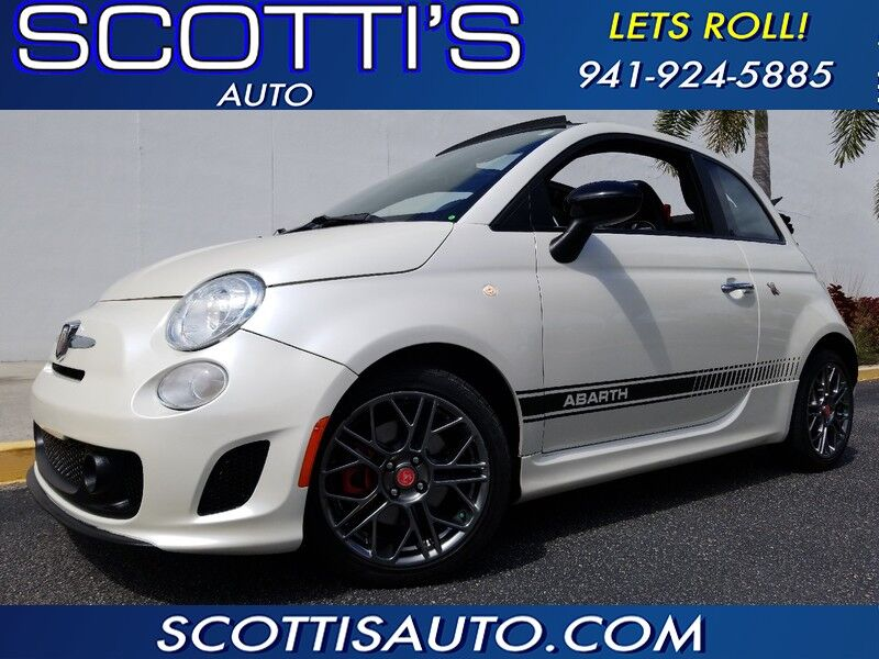 2017 FIAT 500 Abarth CONVERTIBLE~ 1-OWNER~PEARL WHITE!~ FACTORY WARRANTY~ ONLY 21K MILES~ AUTOMATIC~ AWESOME CAR! FINANCE AVAILABLE! Sarasota FL