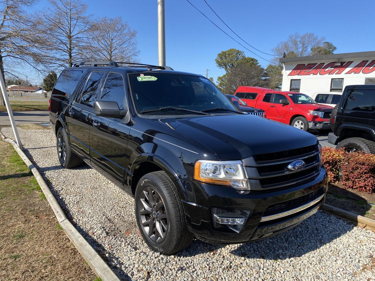 2017 FORD EXPEDITION EL LIMITED, WARRANTY, LEATHER, NAV, HEATED/COOLED SEATS, SUNROOF, 1 OWNER! Norfolk VA