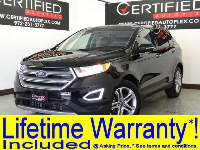 Ford Edge Titanium Blind Spot Assist Navigation Panorama Apple Carplay Android Auto Carrollton Tx