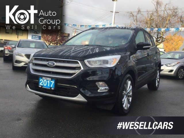 2017 Ford Escape Titanium No Accidents! Navigation, Leather Seats, Backup Camera, Keyless Entry Victoria BC