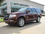 2017 Ford Expedition Limited 2WD NAV, BACKUP CAM, HTD/COOLED STS, CAPT CHAIRS, BLUETOOTH, PUSH BUTTON, APPLE CAR PLAY